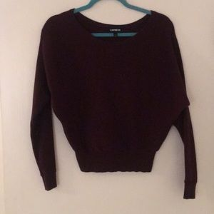 Express - maroon sweater